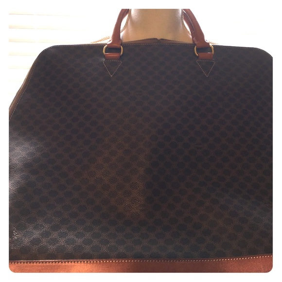 8b062ef9ac Celine Handbags - Vintage Celine Macadam Monogram Alma Travel Bag XL